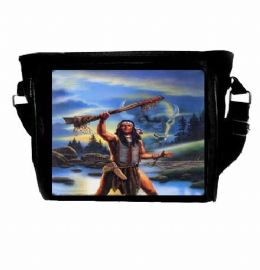 Native American Indian Buffalo Warrior Themed Shoulder Bag